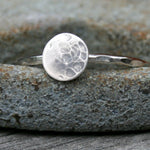 Sterling Silver Ring - Textured Full Moon