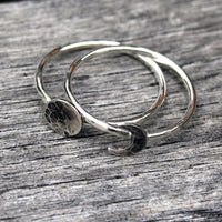 Moon Phase Sterling Silver Stacking Ring Set