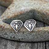 Sterling Silver Diamond Earrings