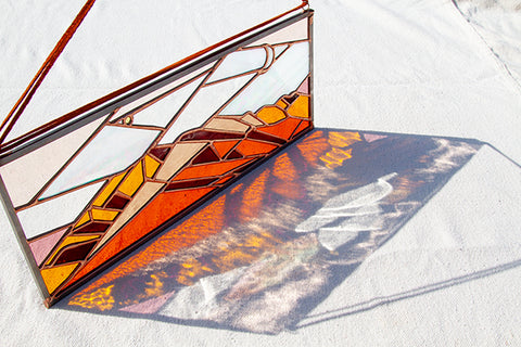 San Jacinto Mountain Range Commission, Palm Springs, CA. Stained Glass Sunset