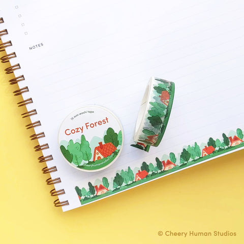 Cozy Forest Washi Tape by Cheery Human Studios