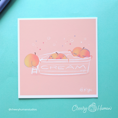 Peaches & Cream - 6x6 Print