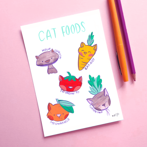 Cat Foods - 5x7 Art Print