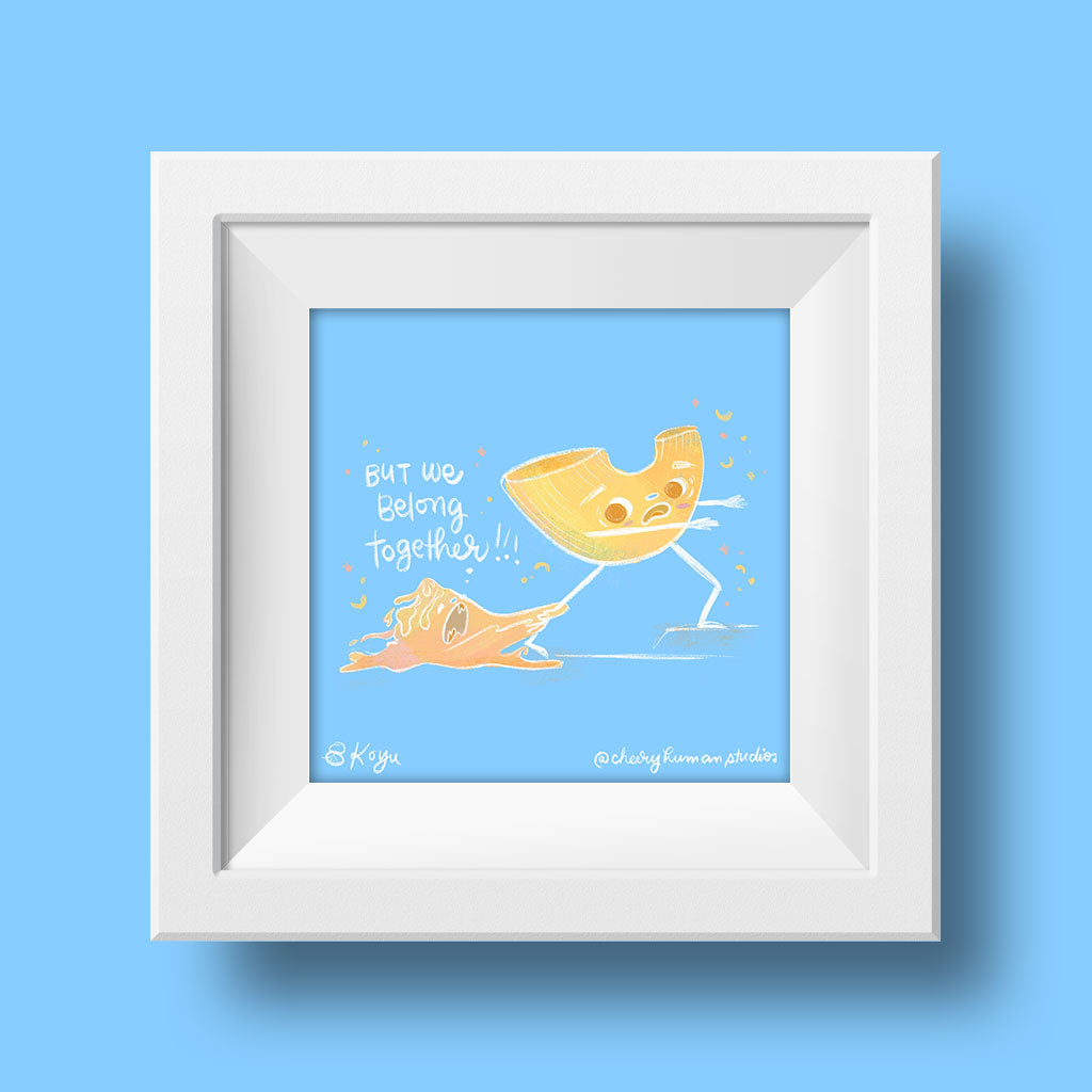 Cheese Loves Mac - 6x6 Art Print