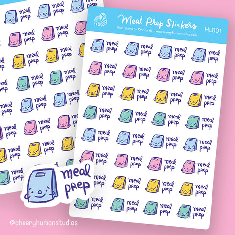 Meal Prep Stickers - Stickers | Single Sticker Sheet or Pack of 5