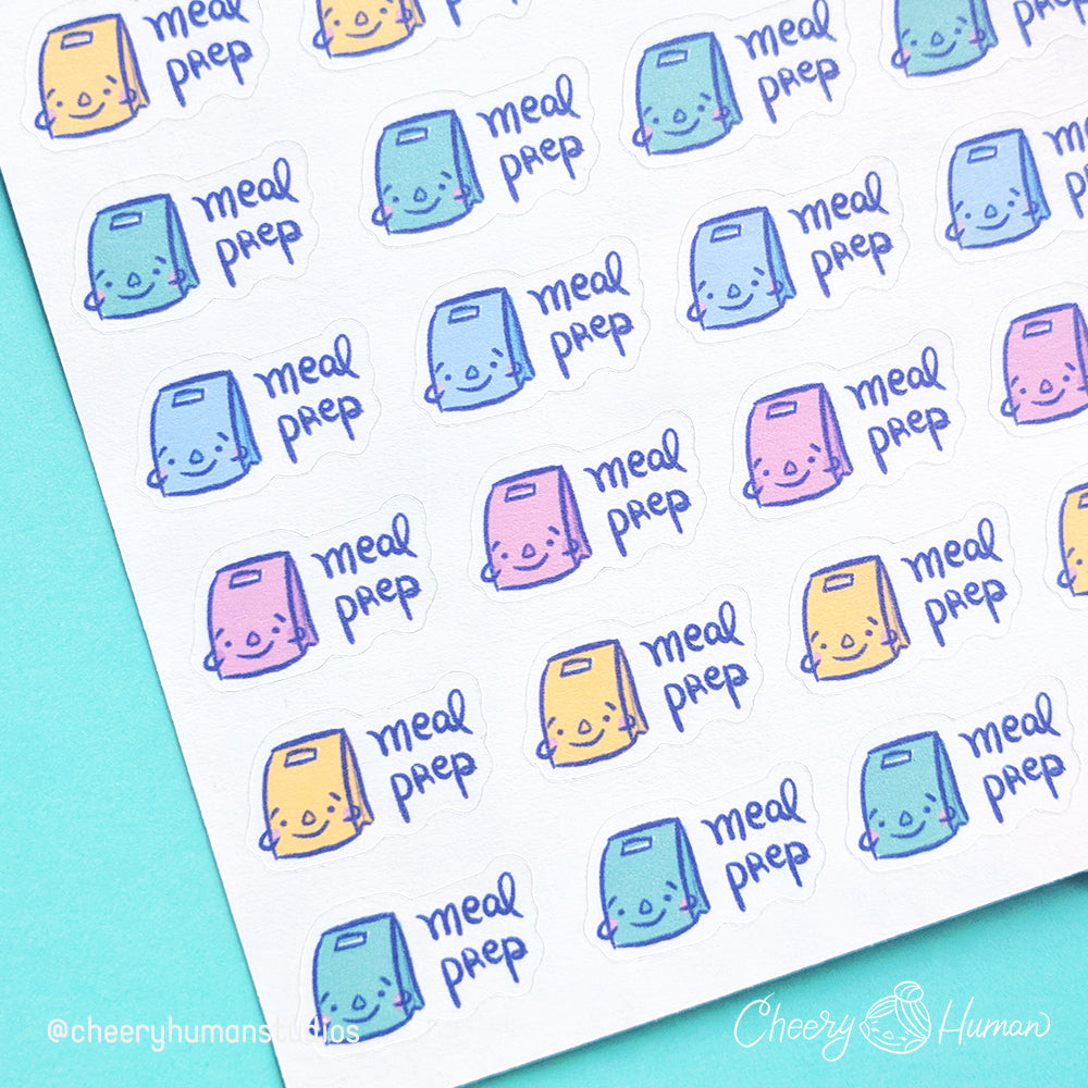 Meal Prep Stickers - Sticker Sheet