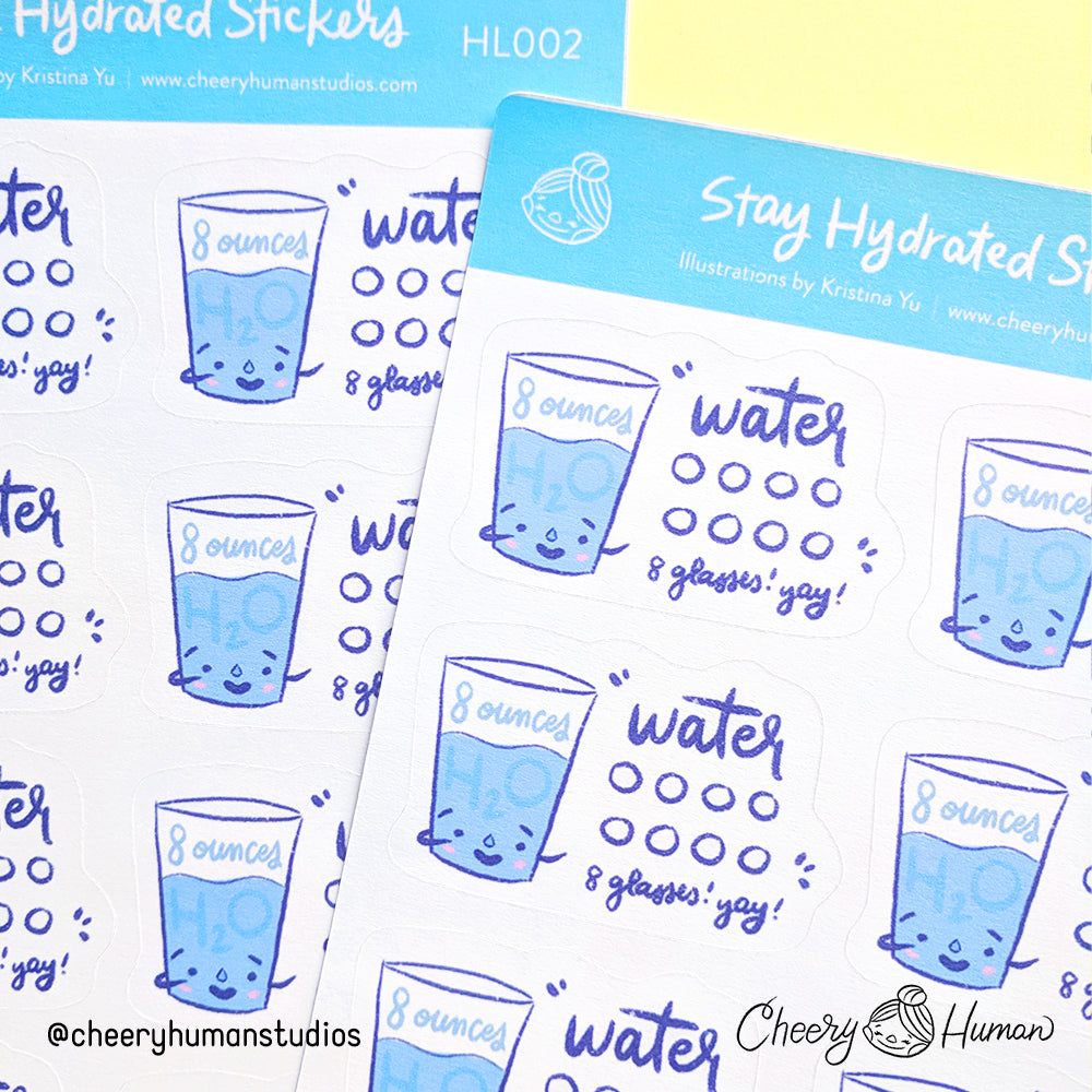 Stay Hydrated / Water Intake - Sticker Sheet