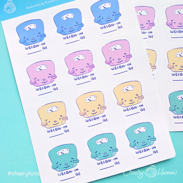 Weigh-In Stickers - Sticker Sheet