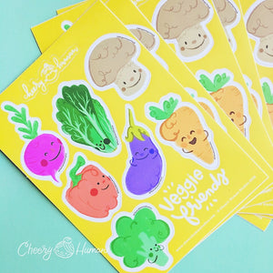 Veggie Friends - Vinyl Sticker Sheet
