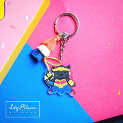 Wonder Kitty - Clear Acrylic Keychain