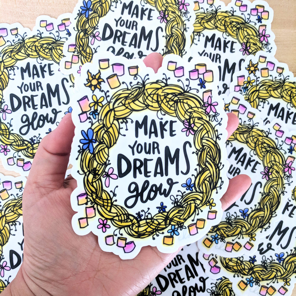 Make Dreams Glow - Large Vinyl Sticker