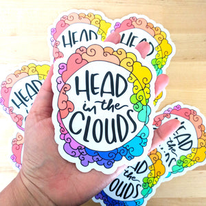 Head in the Clouds - Large Vinyl Sticker