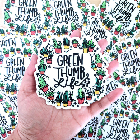 Green Thumb Life - Large Vinyl Sticker