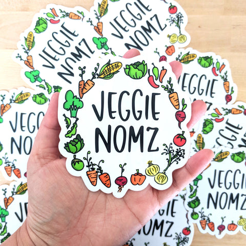 Veggie Nomz - Large Vinyl Sticker