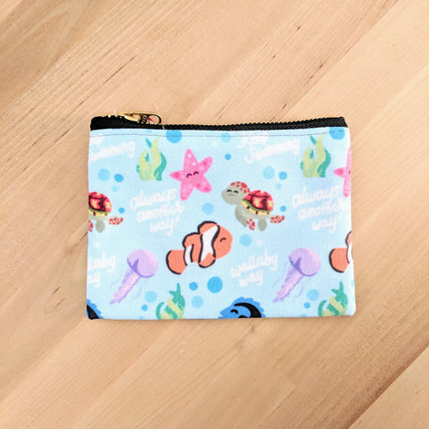 "Fish Friends - Small Zip Pouch - 6"" x 4"""