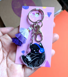 Gamer Kitty - Clear Acrylic Keychain