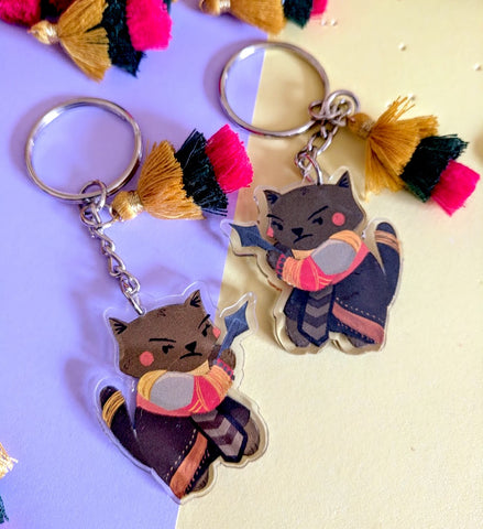 Wakanda Warrior Kitty - Clear Acrylic Keychain