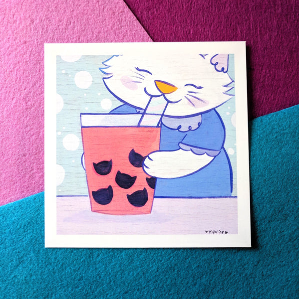 *LIMITED RELEASE* Boba Cat - 6x6 Print