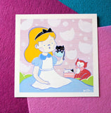 *LIMITED RELEASE* Alice & Cats at Tea - 6x6 Print