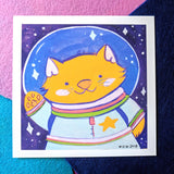 *LIMITED RELEASE* Catstronaut - 6x6 Print