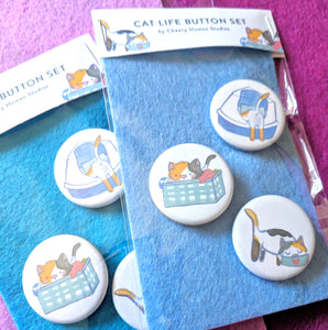 Everyday Cat Life - 3 Button Pack