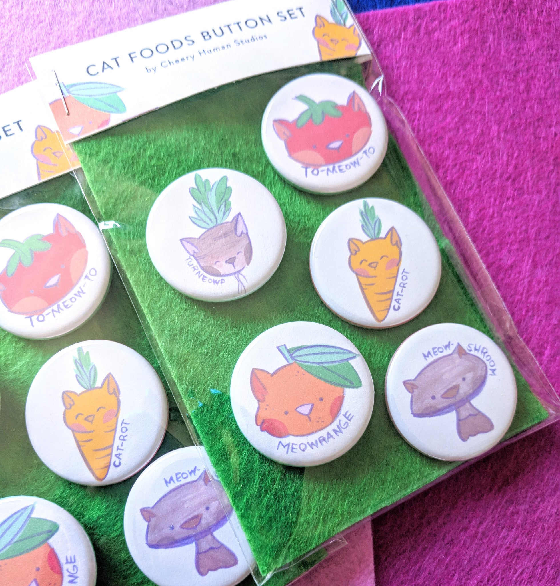 Cat Foods - 5 Button Pack