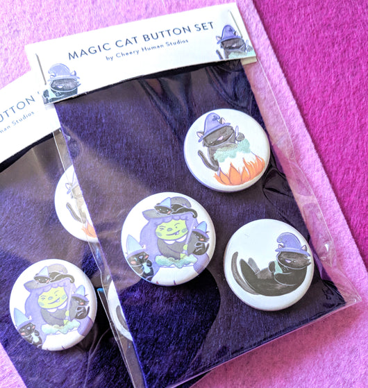 Magic Cats - 3 Button Pack