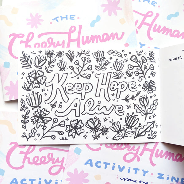 The Cheery Human Activity Zine: Issue 1 (Coloring Pages, Word Search Puzzles, Mazes and more!)