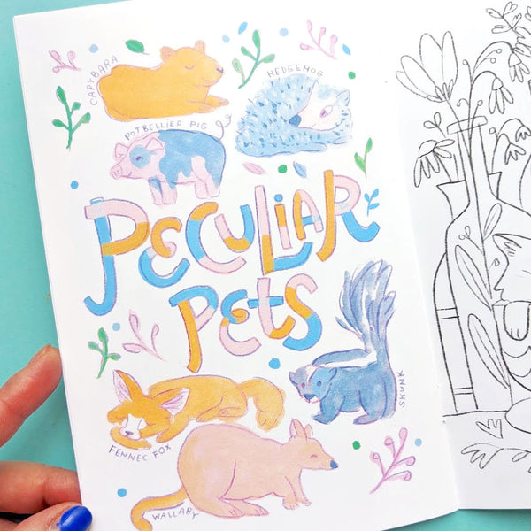 BUNNY BUNDLE | Marvelous Pets Zine + 5x7 inch Print | Fun Activities & Full Color Artwork