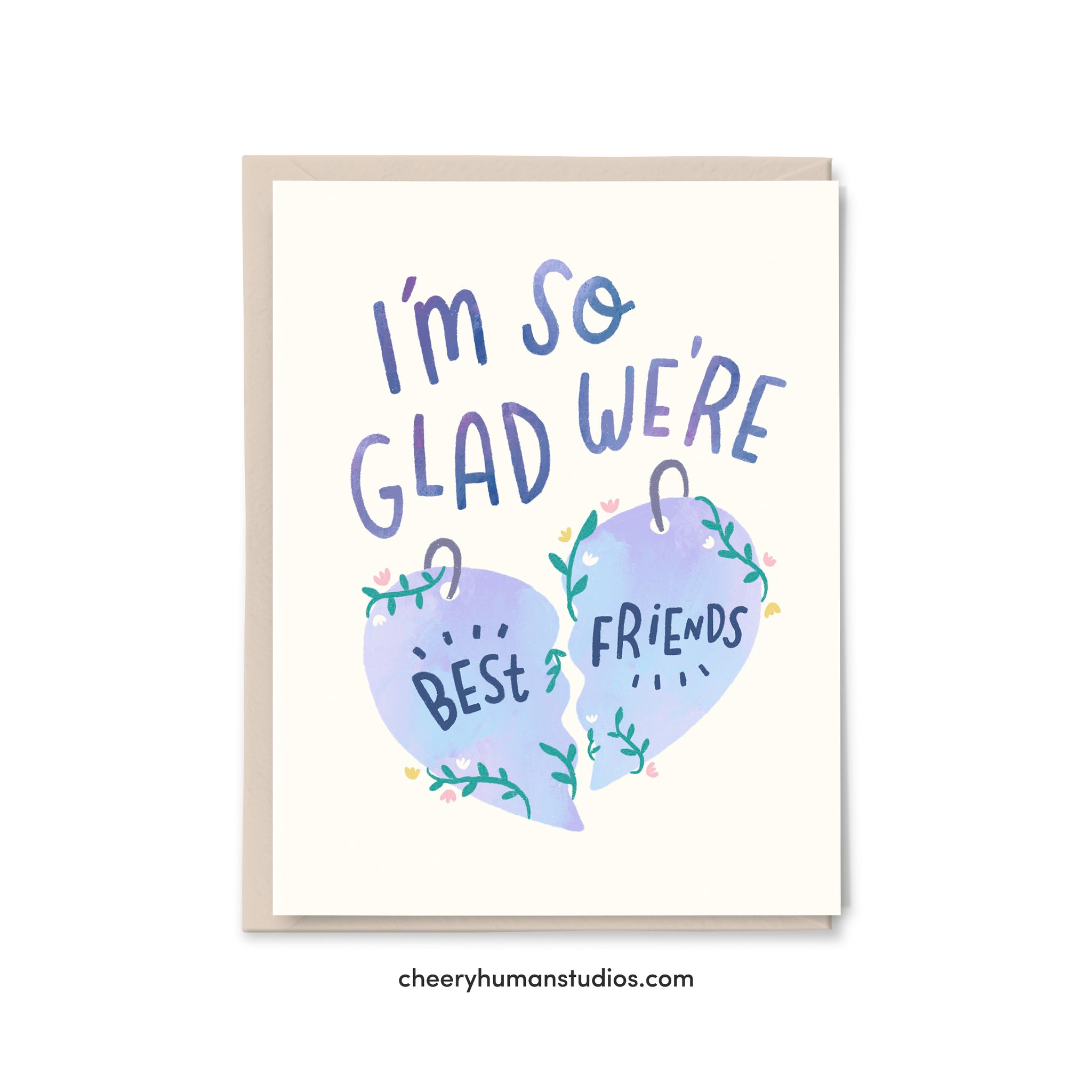 So Glad We're Best Friends  |  Friendship Greeting Card | Greeting Card | Love Greeting Card