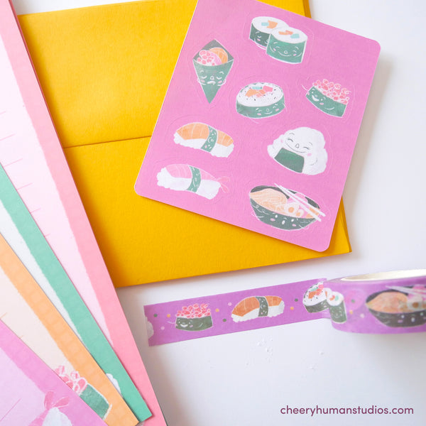 Sushi & Friends - Letter Set & Washi Tape Bundle
