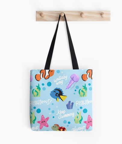 "Fish Friends - Tote Bag - 13"" x 13"""