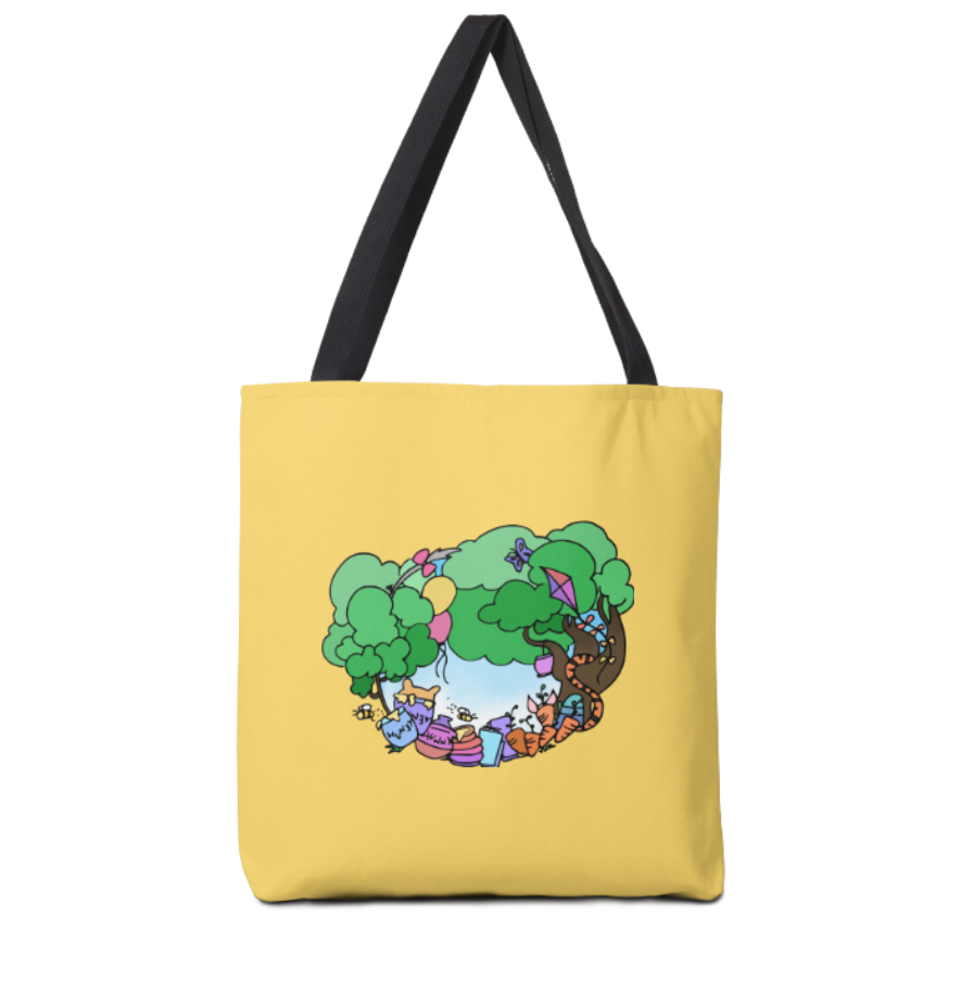 Hunny Acre Wood - 13x13 Tote Bag (w/ Design Printed on Both Sides)