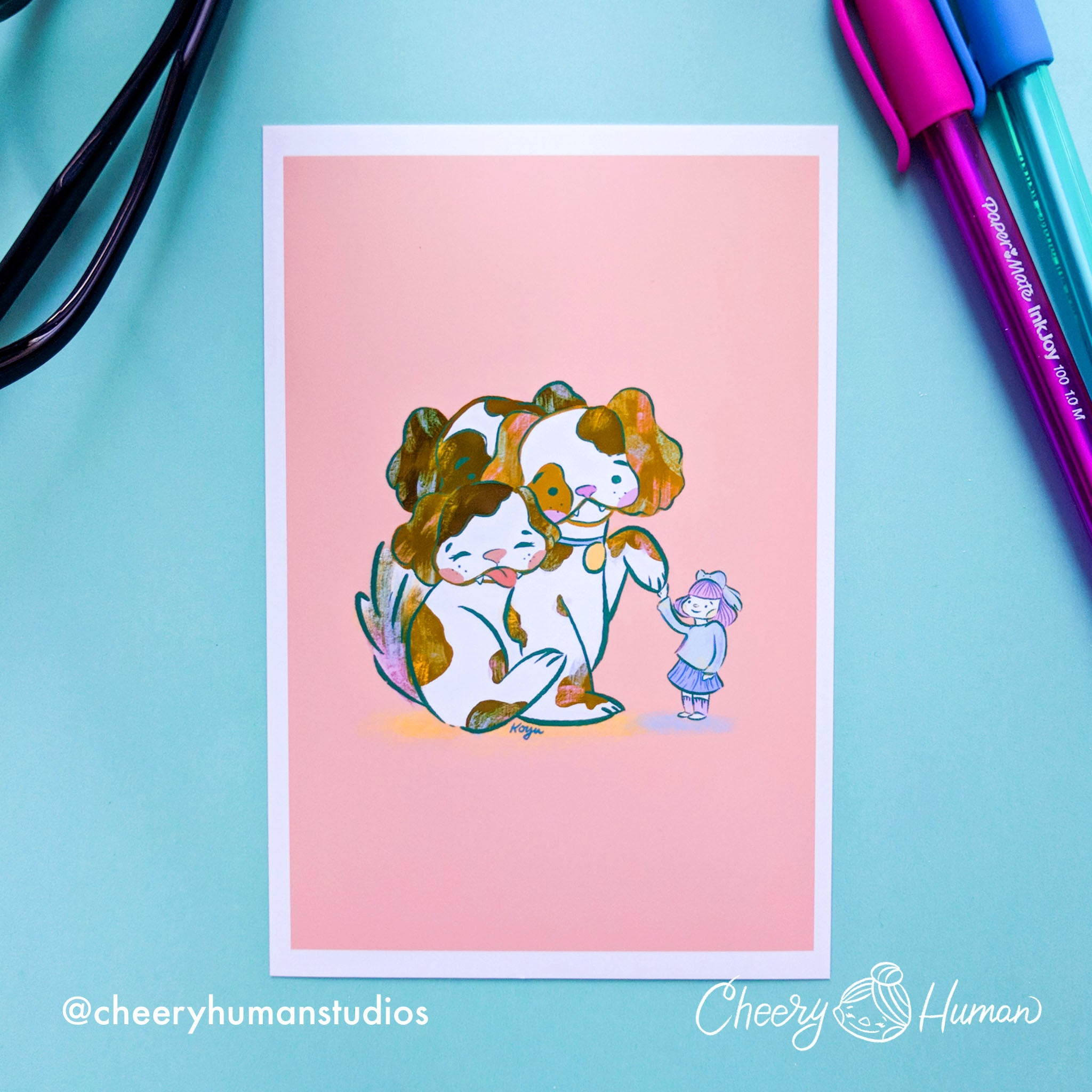 Fluffy Friend - 4x6 Art Print