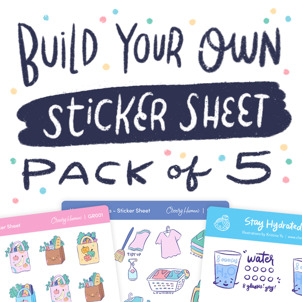 Build Your Own Sticker Sheet Pack of 5 | Planner Sticker Sheets