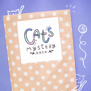 Cat Themed Mystery Pack - 6+ Mystery Items Per Pack