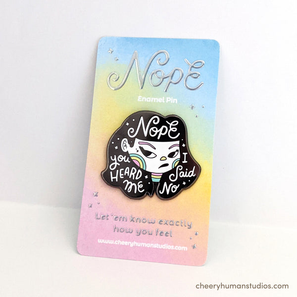 "Nope - 1.5"" Enamel Pin"