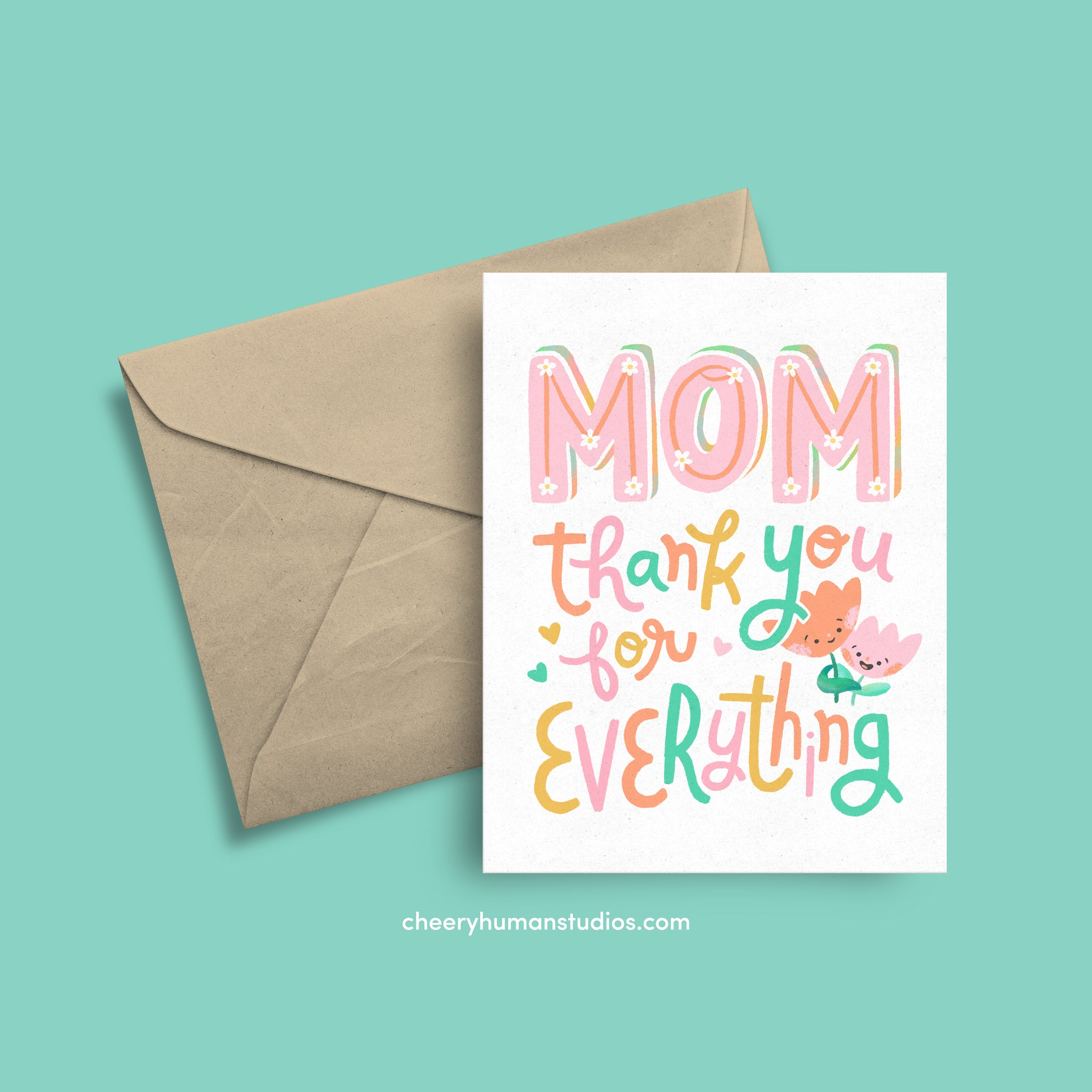 Thanks, Mom  |  Mother's Day Greeting Card | Just Because Greeting Card | Love Greeting Card