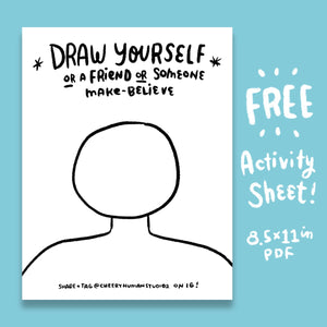 *FREE* Draw Yourself - Coloring & Activity Sheet - Digital Download