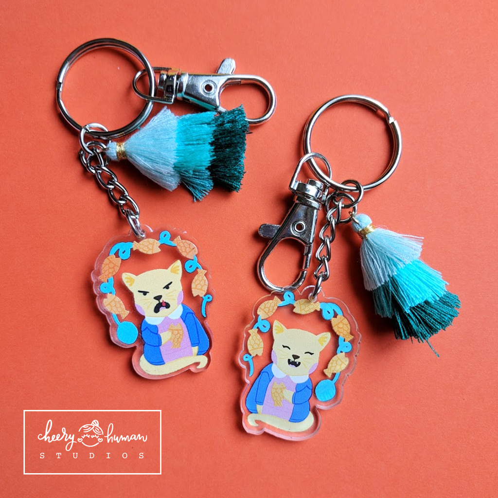 Stranger Kitty - Clear Acrylic Keychain