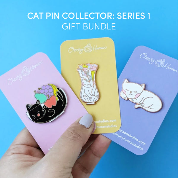Cat Pin Collector: Series 1 - Gift Bundle