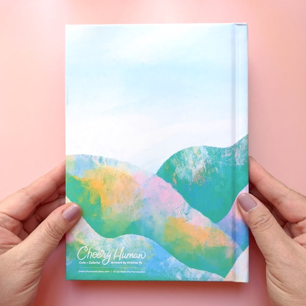Pastel Hills - Hard Cover Journal | Notebook