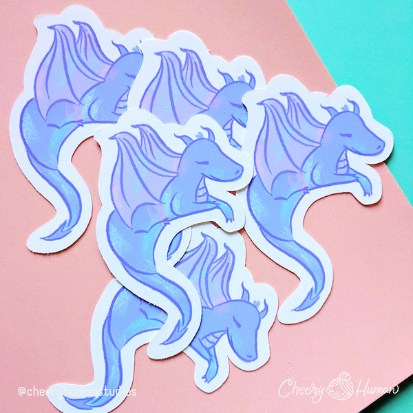 Purple Dragon - Handmade Vinyl Sticker