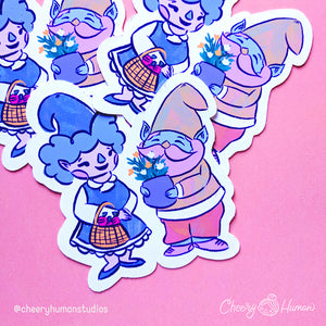 Gnome Love - Handmade Vinyl Sticker