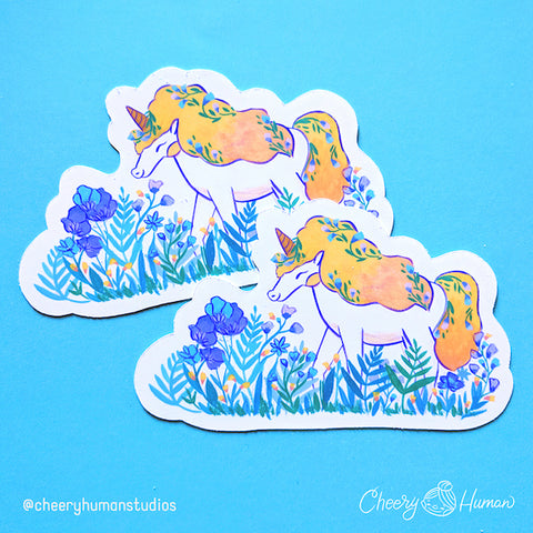 Sunshine the Unicorn - Handmade Vinyl Sticker