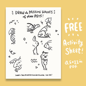 *FREE* Missing Halves: Pets - Coloring & Activity Sheet - Digital Download