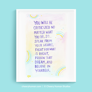 No Matter What - Art Print