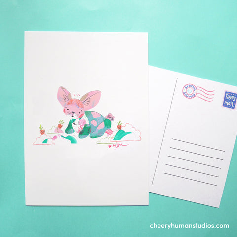 Bunny Rabbit  | Paper Art Postcard Collection 1 | Cute Postcard