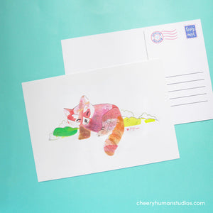 Red Panda  | Paper Art Postcard Collection 1 | Cute Postcard