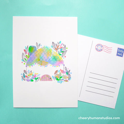 Rainbow Home | Paper Art Postcard Collection 1 | Cute Postcard